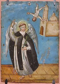 'Saint Vincent Ferrer', anonymous Mexican retablo, oil on tin, mid 19th century, El Paso Museum of Art.JPG