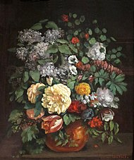 'Vase of Lilacs, Roses, and Tulips' by Gustave Courbet.JPG