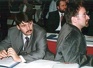 János Áder - János Áder and József Szájer in 2000