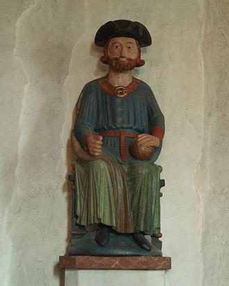 Åre Old Church - Image: Åre Olaf II Statue