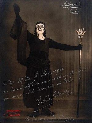 Antigone (Honegger) - Émile Colonne as Créon in the 1927 premiere