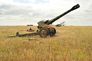 152 mm towed gun-howitzer M1955 (D-20) Towed howitzer