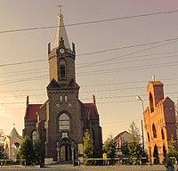 Борислав. Церква св. Анни. Cerkiew Sw. Anny (do r. 1945 kosciol Sw. Barbary).jpg