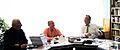 Валерий Ганичев, Андрей Черномырдин, Александр Стручков. 21 октября 2012 г. Переделкино-02.jpg
