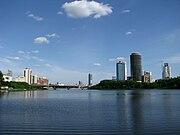 Вид на городской пруд