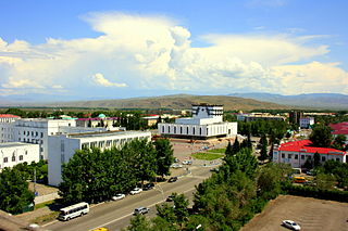 Kyzyl City in eastern Russia