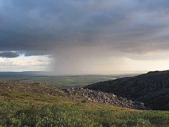 Taymyrsky Dolgano-Nenetsky District - Landscape with rainstorm, Taymyrsky Dolgano-Nenetsky District