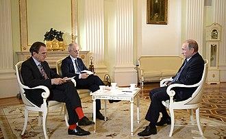 Corriere della Sera - Image: Интервью Владимира Путина итальянской газете Il Corriere della Sera 5