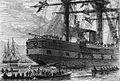 Прощание с фрегатом Светлана, покидающим Гон-Конгский порт. Гравюра из Всемирной иллюстрации 229.jpg