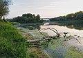 Река Уна (лево) код ушћа у Саву (десно) код Доње Градине (River Una at mouth at Donja Gradina, Republika Srpska).jpg
