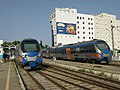 Рельсовые автобусы на вокзале в Набуле.JPG