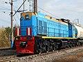 ТЭМ18ДМ-438, Россия, Самарская область, станция Сызрань (Trainpix 144481).jpg