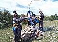 Шаман Ташоол Бууевич Кунга - обряд освящения места (санг).jpg
