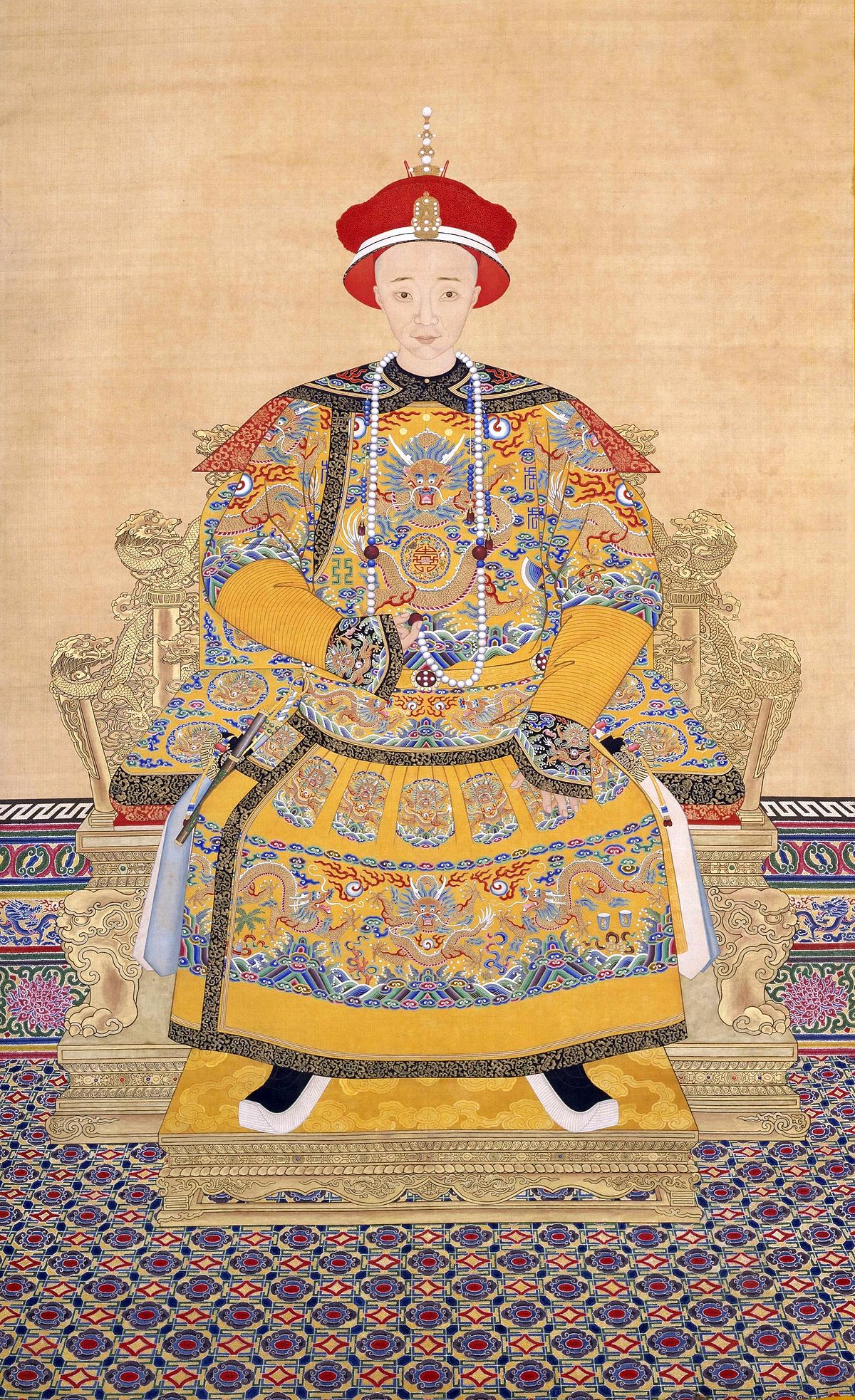 The Emperor Seven Tarot Cards From Different Packs Other: Xianfeng Emperor