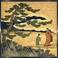琴棋書画図襖の内-Appreciation of Painting, from a set of the Four Accomplishments MET DT6110.jpg