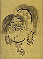 舞楽図屏風 ・唐獅子図屏風-Bugaku Dances (front); Chinese Lions (reverse) MET DP141396 cropped.jpg