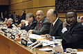 020206 IAEA Director General ElBaradei, Olli Heinonen, Japan Ambassador Yukiya Amano (Photo Credit D. Calma - IAEA).jpg