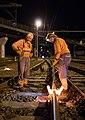 03.09.2015, thermite welding 03, Zábřeh na Moravě (24345430519).jpg