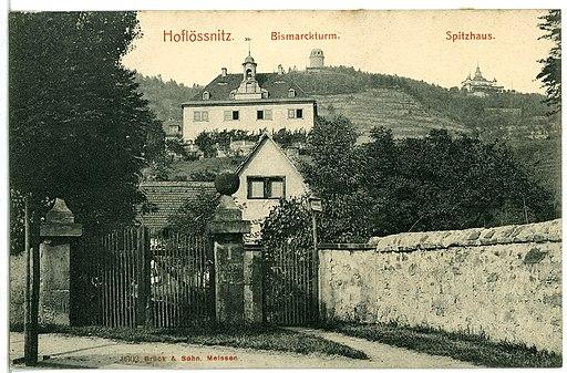 09302-Radebeul-1907-Hoflößnitz - Bismarckturm, Spitzhaus-Brück & Sohn Kunstverlag