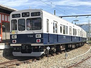Ueda Electric Railway Bessho Line - Image: 1004編成 まるまどりーむ号Mimaki