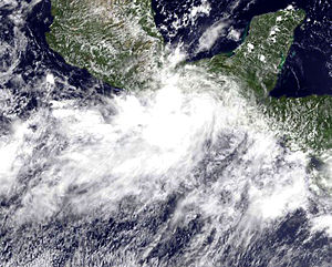 Tropical Storm Hermine (2010) - Tropical Depression Eleven-E off the coast of Mexico on September 3