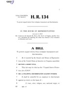 116th United States Congress H. R. 0000134 (1st session) - Unpaid Intern Protection Act of 2019.pdf
