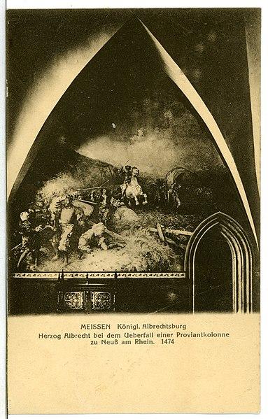 File:11781-Meißen-1910-Albrechtsburg Herzog Albrecht beim Überfall-Brück & Sohn Kunstverlag.jpg