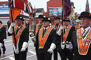 Bowler hat - Members of the Orange Order celebrating The Twelfth, Belfast 2011