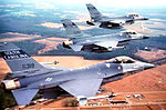 157th Tactical Fighter Squadron - 3 F-16A Formation - 1989.jpg
