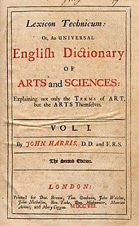 <i>Lexicon Technicum</i> book by John Harris