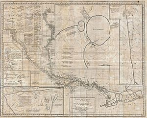 Joseph Tiefenthaler - Tiefenthaler's map of the Ganges and Ghaghara rivers, 1784