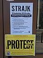 18-04-2019 Warszawa zespół szkół przy Stawki 10, strajk.jpg