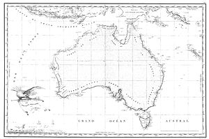Freycinet Map of 1811 - Freycinet Map of 1811 – The first full map of Australia to be published