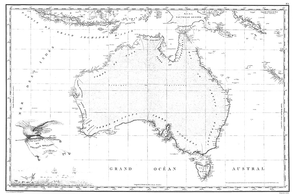 1811 Freycinet Map