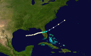 1852 Atlantic hurricane season - Image: 1852 Atlantic hurricane 3 track