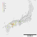 1857 Ansei Geiyo earthquake intensity.png