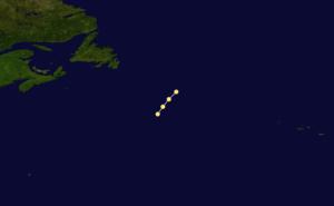 1869 Atlantic hurricane season - Image: 1869 Atlantic hurricane 1 track