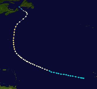1872 Atlantic hurricane season - Image: 1872 Atlantic hurricane 2 track