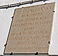 18 June 1815 – Victory at Waterloo – La Belle Alliance, replacement tablet.jpg