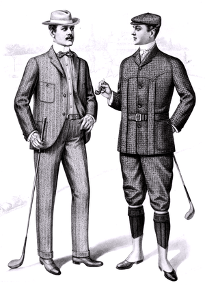 of men's golfing clothes, from the Sartorial A...