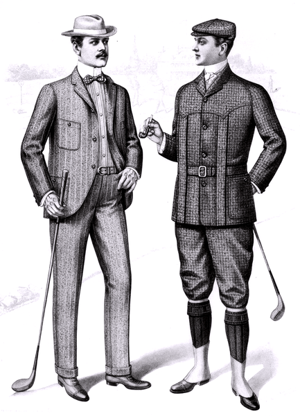 File:1901 Sartorial Arts Journal Fashion Plate Men's Golfing Clothes.png