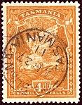 1911 4d wmrk A litho Tasmania used Yv78 SG247.jpg