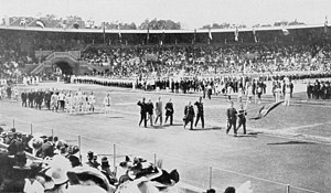 Belgium at the 1912 Summer Olympics - The team of Belgium at the opening ceremony.