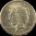 1921-1$-Peace dollar Avers.png