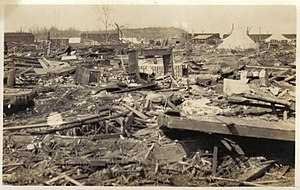 Griffin, Indiana - Ruins of the town of Griffin, Indiana, where 26 people were killed
