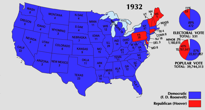 election of 1932 Historical context- issues the great depression was the biggest issue of that time from 1921-1929: many economic advances, which hoover expected to continue.