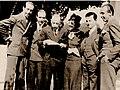 1934 Los Ángeles (California) De izquierda a derecha Paco Aguilar, Ezequiel, Igor Strawinsky, Elisa, Samuel Dushkin y Pepe..jpg