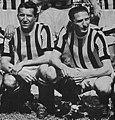 1946–47 Juventus FC - Čestmír Vycpálek and Silvio Piola.jpg