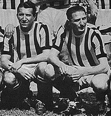 Čestmír Vycpálek e Piola alla Juventus nella stagione 1946-1947