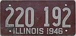 1946 Illinois passenger license plate.jpg